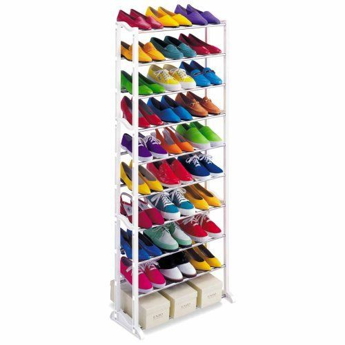 Lynk 1459014 30 Pair Shoe Rack By Lynk Http Www Amazon Com Dp B000xkeq1q Ref Cm Sw R Pi Dp Ub65qb0 Shoe Rack Organization Shoe Rack Tower Shoe Rack Portable