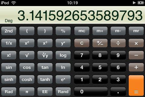More iphone tricks. Turn your calculator app sideways