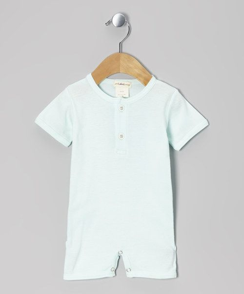 Made from soft rib-knit organic cotton, this sweet romper is extra gentle on sensitive skin. The charming design features a button-up henley collar, an adorable faux flap in back and snaps at the legs for easy changing.100% organic cottonMachine washImported