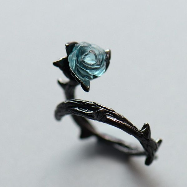 Vintage Rose and Thorn Rings