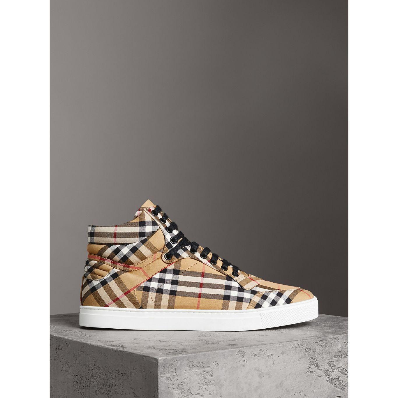 limpide en vue choisissez le dégagement haute couture Sneakers pour homme | Burberry | Le soulier | Motif vintage ...