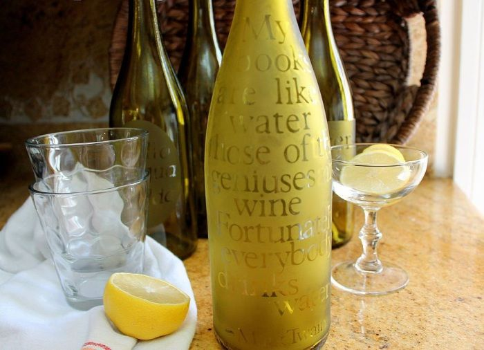 12 Original ideas of creation of d�cor items from empty wine bottles   http://wonderdump.com/12-original-ideas-of-creation-of-decor-items-from-empty-wine-bottles/