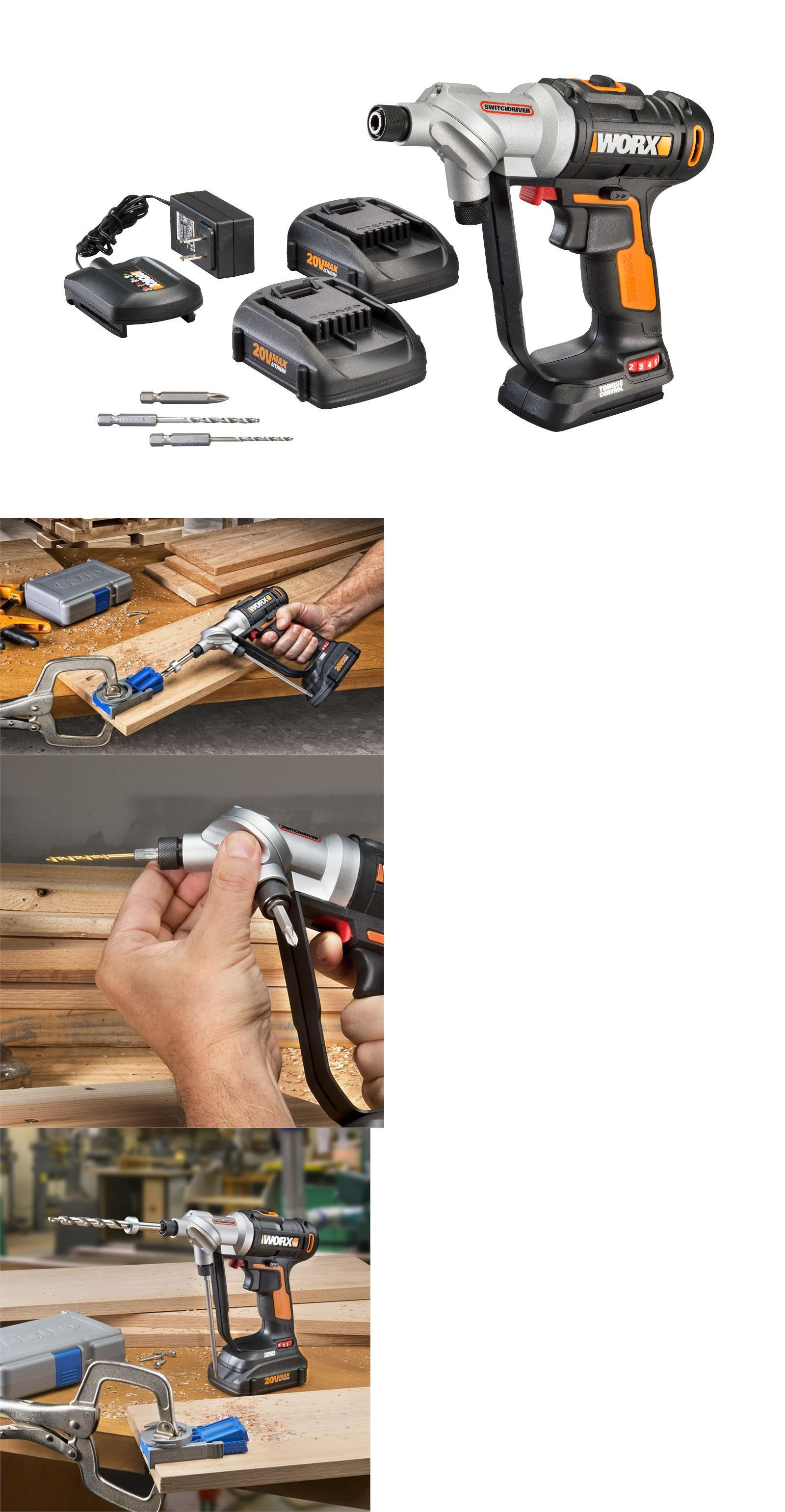 Screwdrivers 122839 Wx176l 5 Worx 20v Switchdriver Cordless Drill And Driver 2 Batteries Included Buy It Now Only Cordless Drill Drill Driver Cordless
