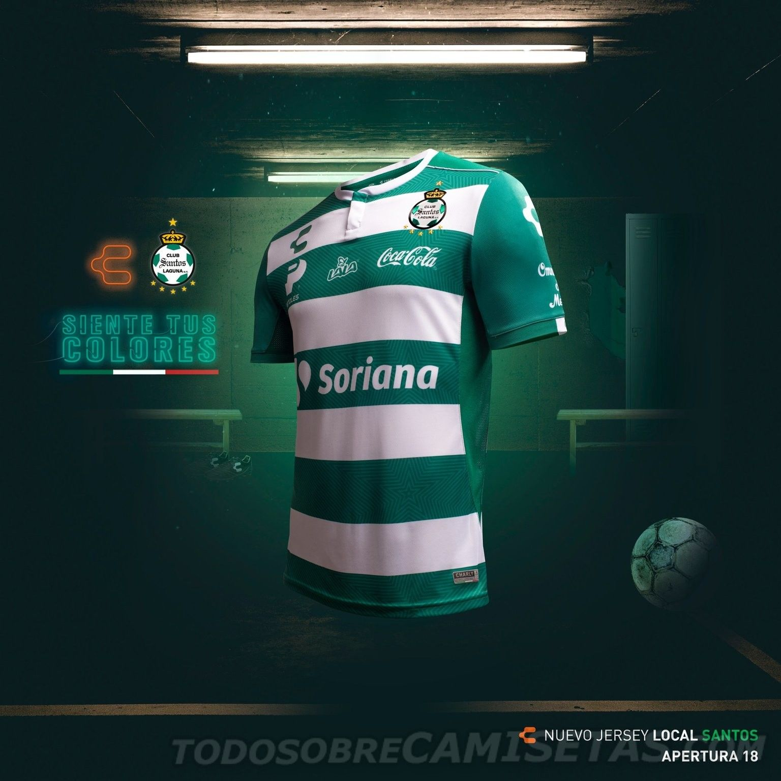 reputable site 731e8 b18be Charly Santos Laguna Jersey CAMPEON Champion 2018//2019 ...