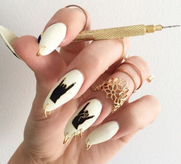 Nail Piercing Rings By Sculptress
