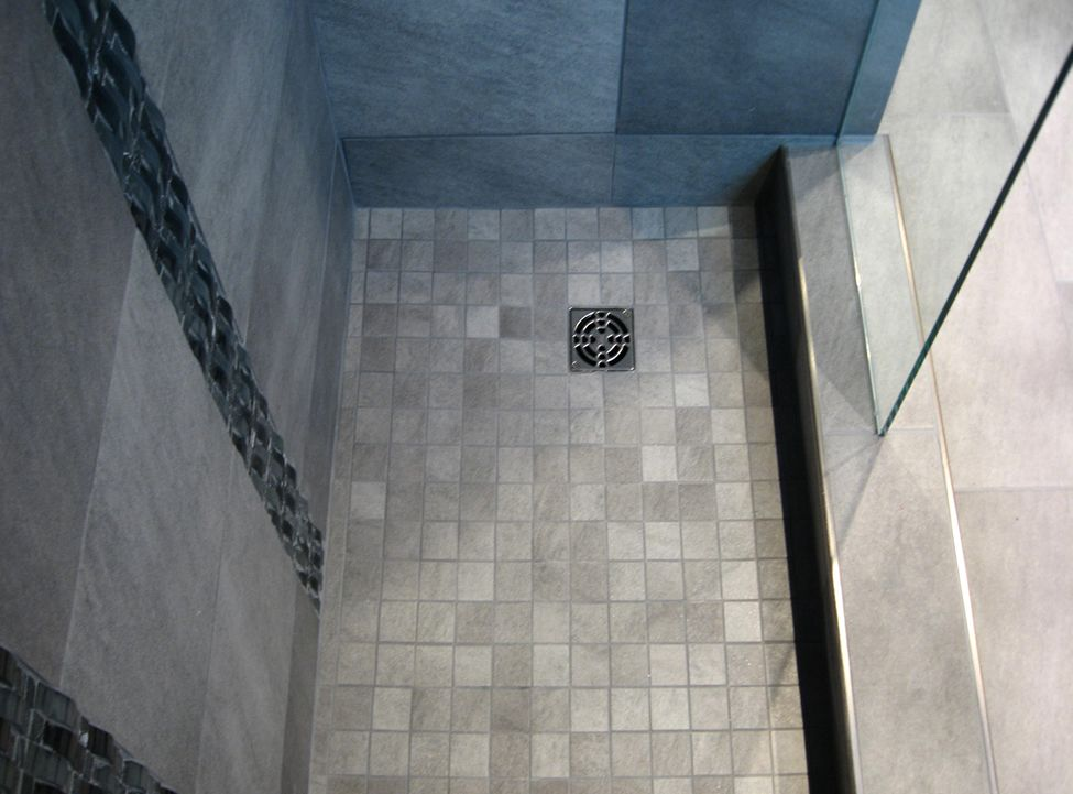 Modern Shower Stall Tile Floor 975×721 Pixels