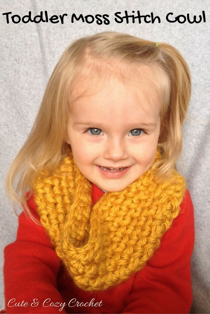 Toddler Moss Stitch Cowl Moss Stitch Toddler Cowl And Cowl Scarf