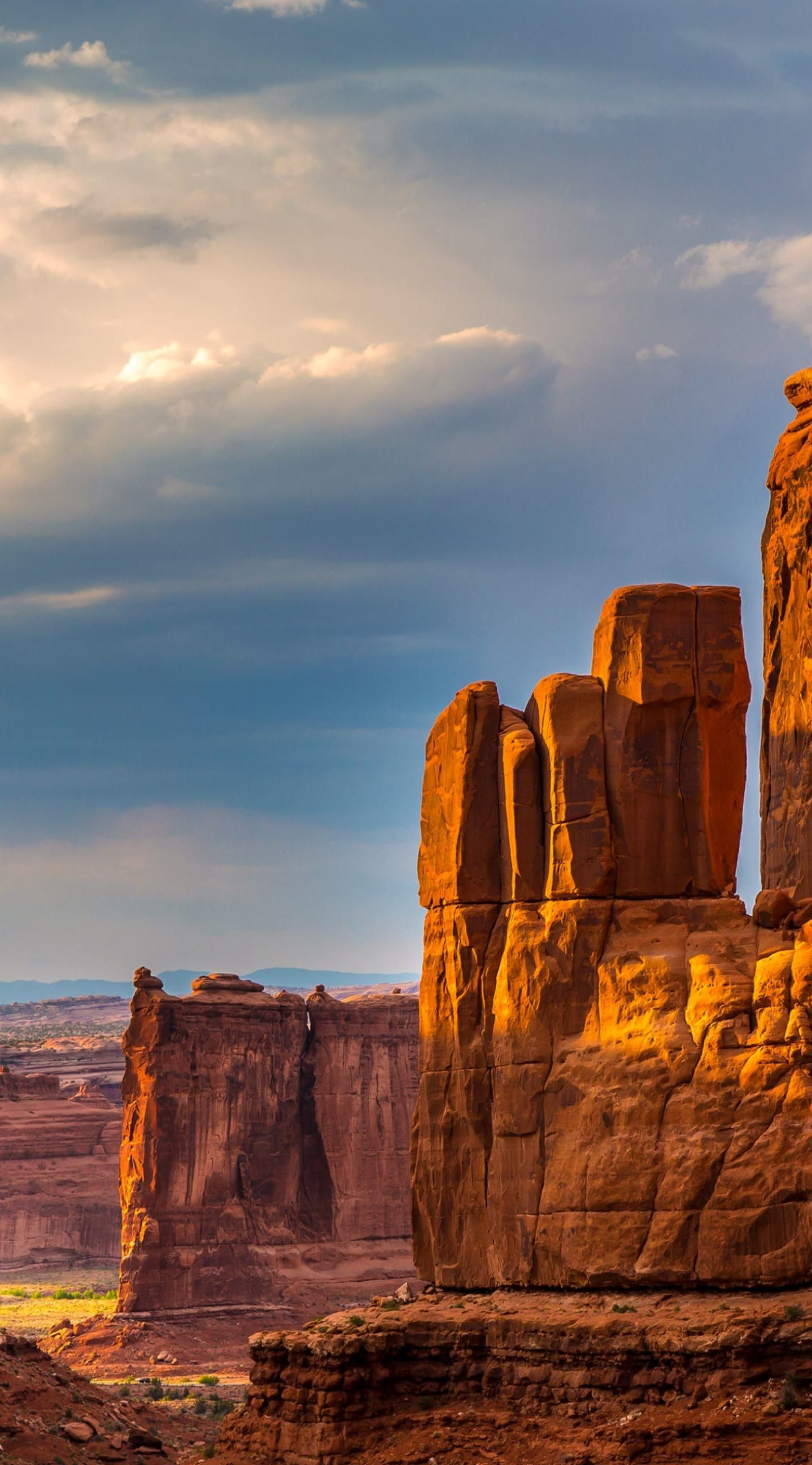 Canyon Valley Arches National Park Fondo De Pantalla