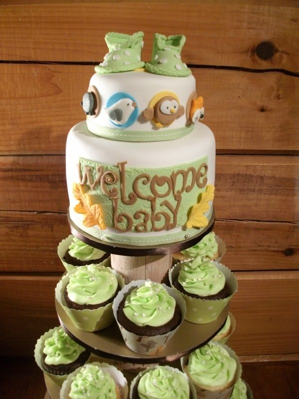 Woodland Baby Shower Ideas Forest Friends Cupcake Tower