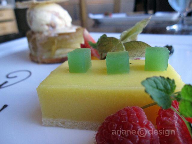 Lemon curd, apple jelly, fresh raspberries by Ariane Colenbrander, via Flickr