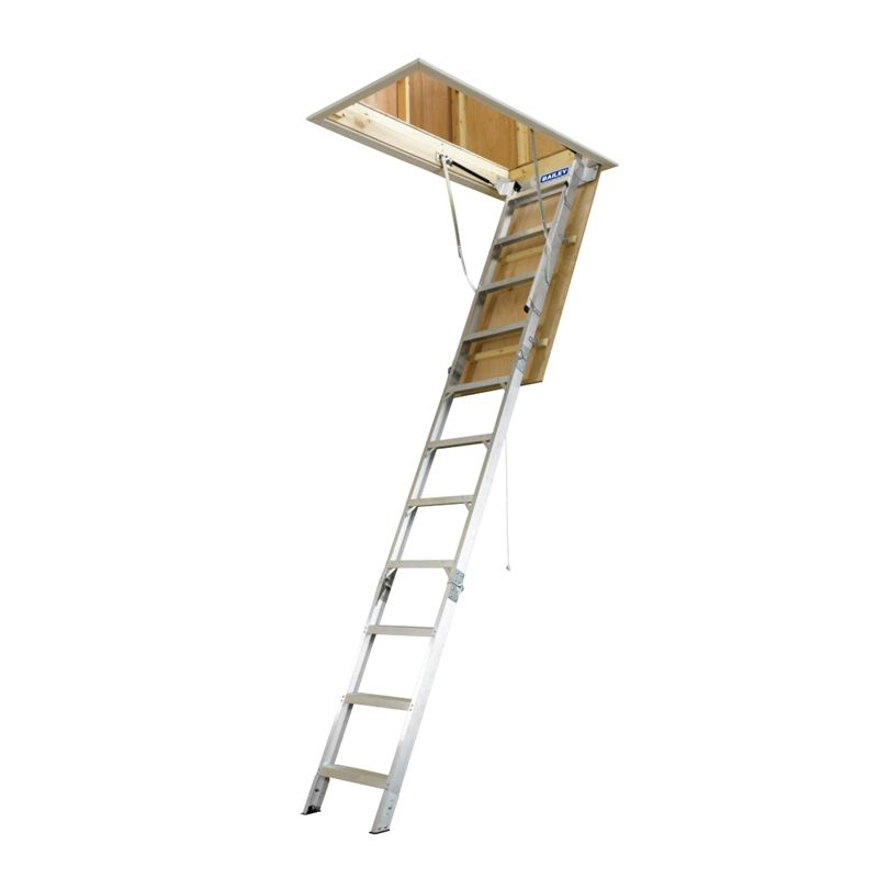 Find Bailey 2 44 3 05m 170kg Aluminium Folding Attic Ladder At Bunnings Warehouse Visit Your Local Store For The W Attic Ladder Attic Renovation Attic Storage