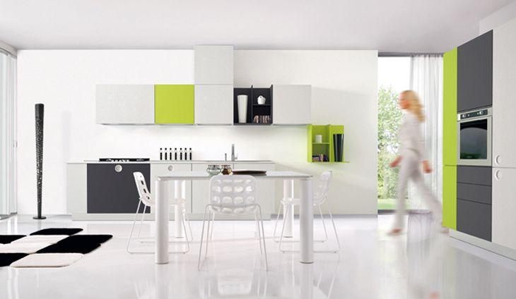 k che in gr n k chenzeile von onetouch gr ne k chen pinterest. Black Bedroom Furniture Sets. Home Design Ideas