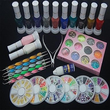 Found on google from pinterest nail art care pinterest qinf nail art decoration kit polish glue rhinestones clipper dotting tool learn more by visiting the image link prinsesfo Gallery