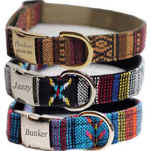 Nylon Dog Collar-Personalized Dog collar-Custom Dog Collar-Beaded Dog Collar-Dog Gear-Dog Lover Gift-Dog Gifts-Pet collar-Custom Collar