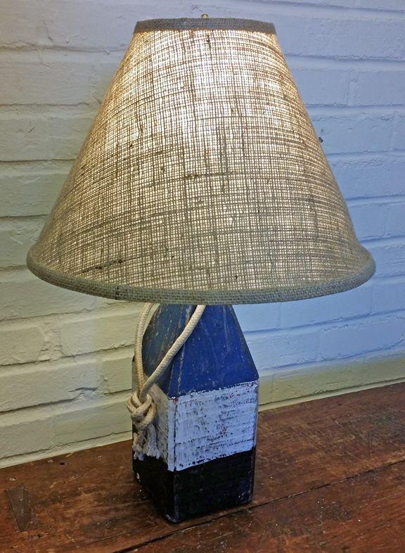 Wood Buoy Table Lamp Lamp Nautical Lamps Lamp Finial