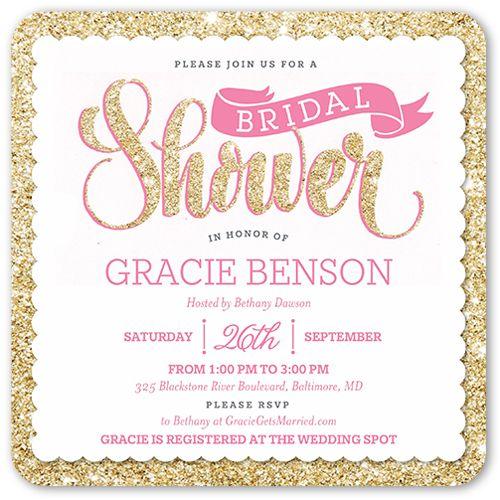 Bridal shower invitation sparkling shower rounded corners pink bridal shower invitation sparkling shower rounded corners pink filmwisefo
