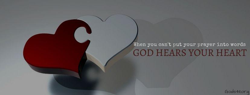 God Hears Your Heart Christian Facebook Cover Christian