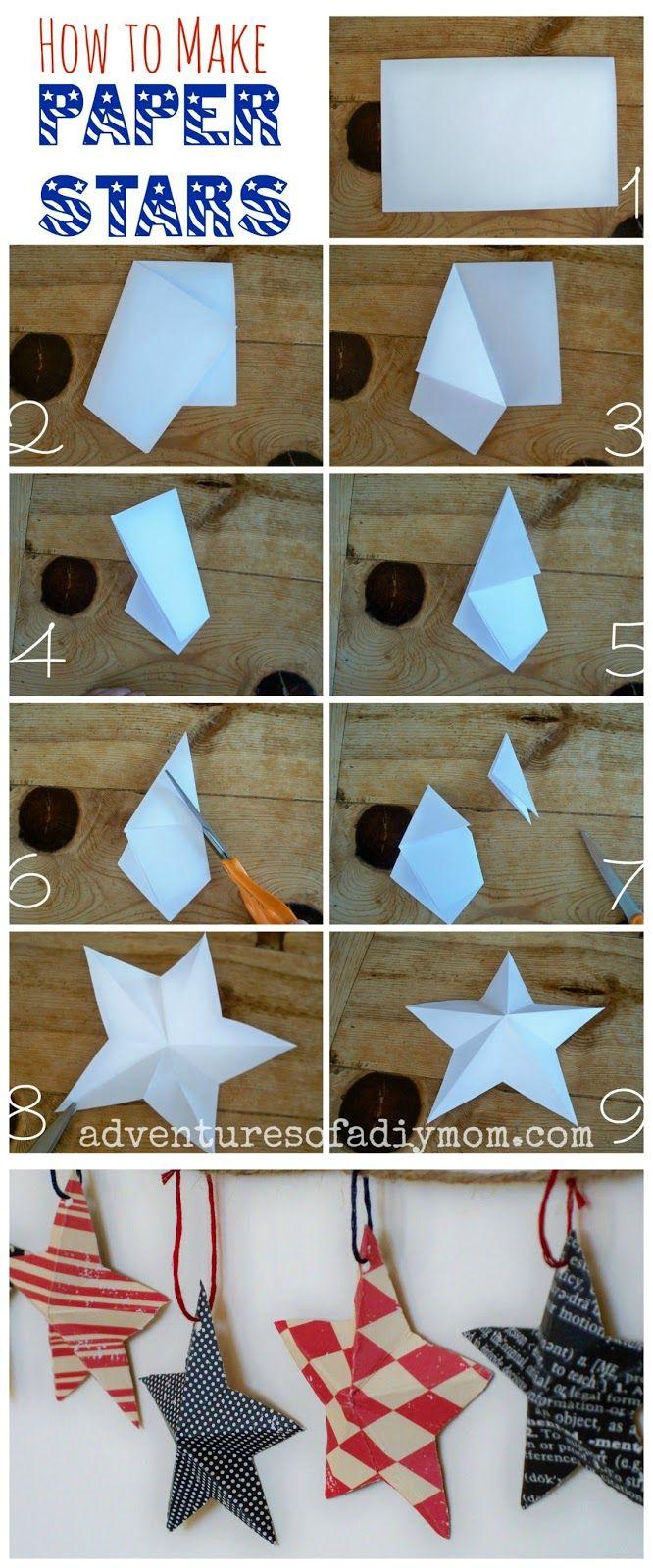 Weihnachtskarten Origami.How To Make 3 D Paper Stars Paper Folding Weihnachten Bilder