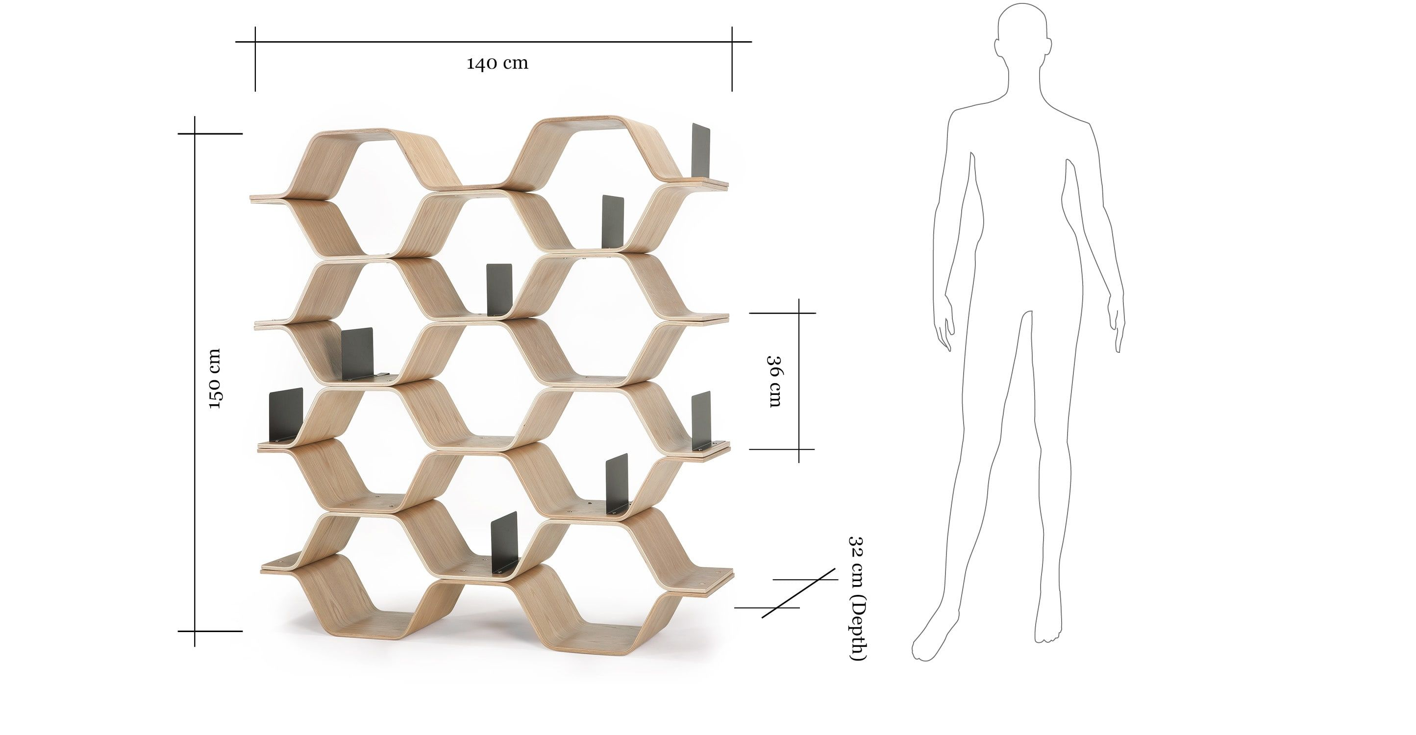 Made shelving unit ash wood express delivery steel polygon designed by luka stepan the ash polygon shelving unit makes a perfect contemporary and practical storage solution to your home malvernweather Image collections
