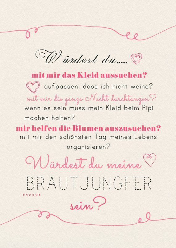 A6 postcard for a friend or bridesmaid in sand/pink gloss optic paper thickness 235 g/m2 gift for bridesmaid or matographer