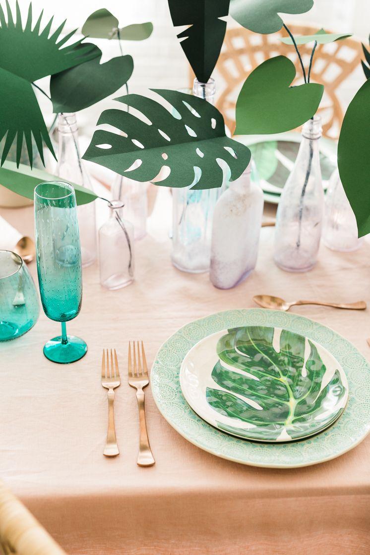 Fesselnd Tropische Tischdeko Selber Machen L DIY Tropical Plants