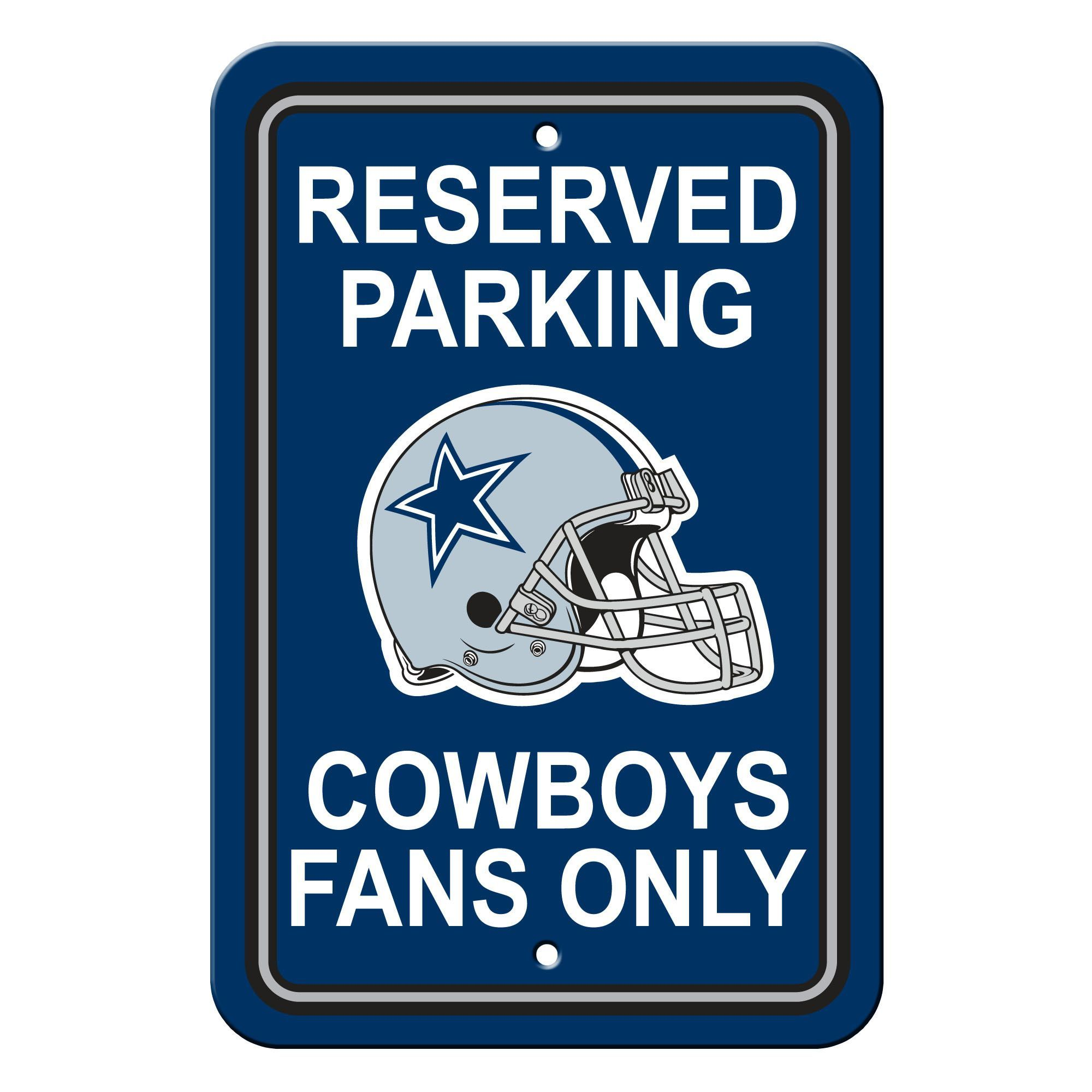 Dallas Cowboys Plastic Parking Sign Reserved Parking