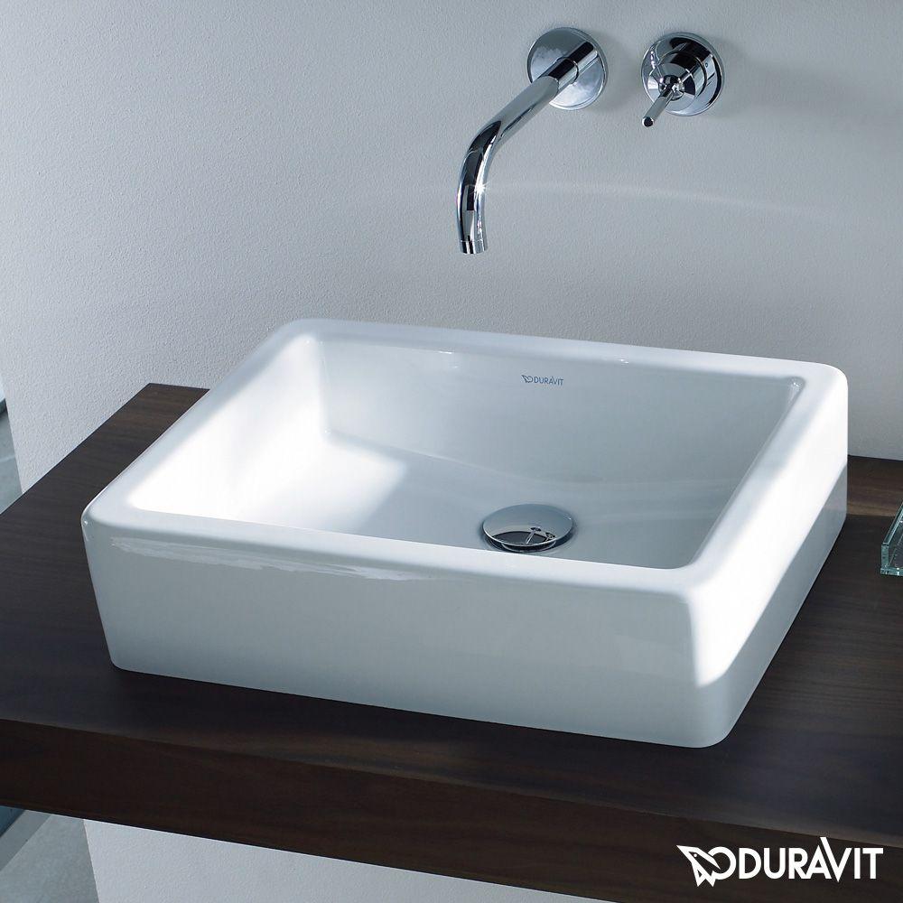 Duravit waschbecken eckig  Duravit Vero Aufsatzbecken, geschliffen weiß mit Wondergliss ...
