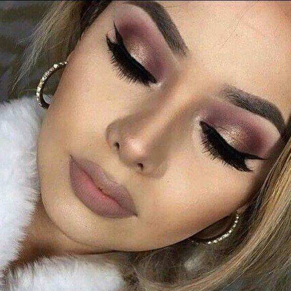 Gold And Burgundy Makeup Make Up Maquiagem
