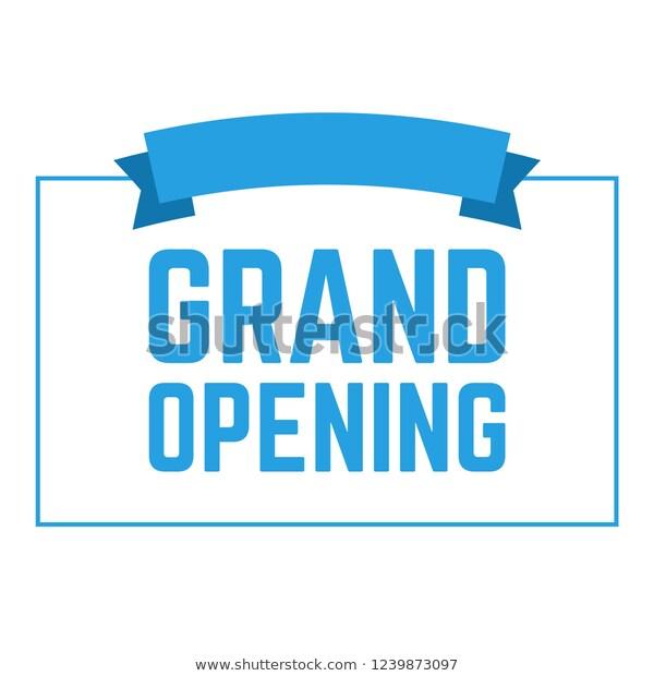 Grand Opening Invitation Cards Celebrate Ceremony Stock Illustration 1239873097 Grand Opening Invitations Grand Opening Invitation Cards