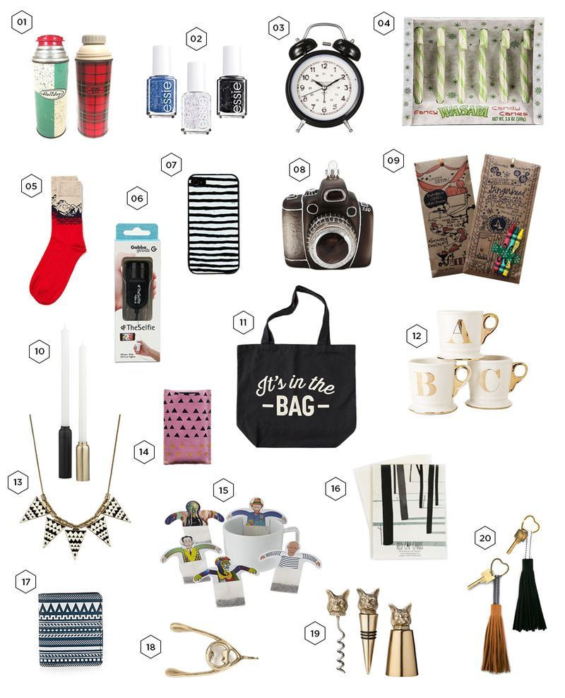 20 Gifts Under Bucks Via A Beautiful Mess Ft My Leather Heart Key Chains In The Bottom Right