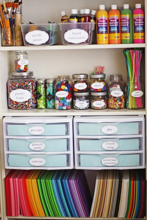 Obsessed With This Craft Mason Jar Organization