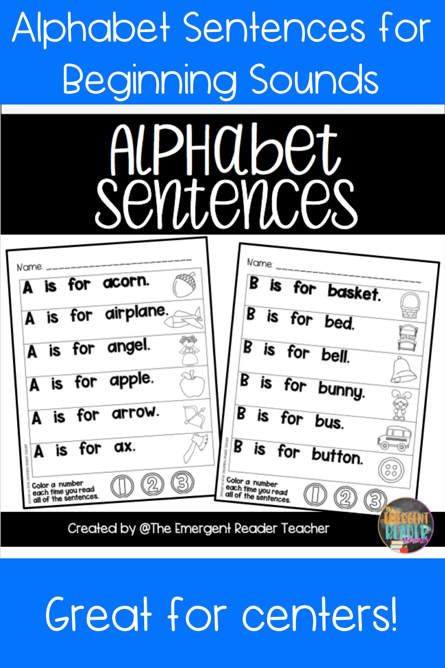 Alphabet Sentences For Reading Fluency And Letter Of The
