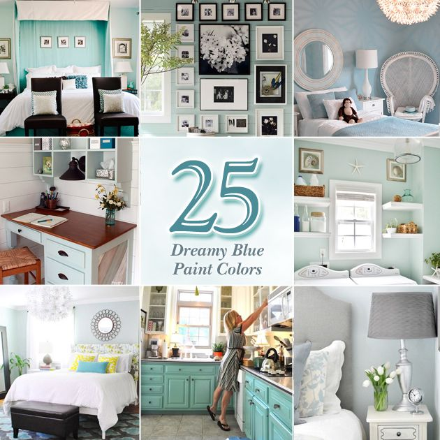 Different Ways To Paint A Room: 25 Dreamy Blue Paint Color Choices