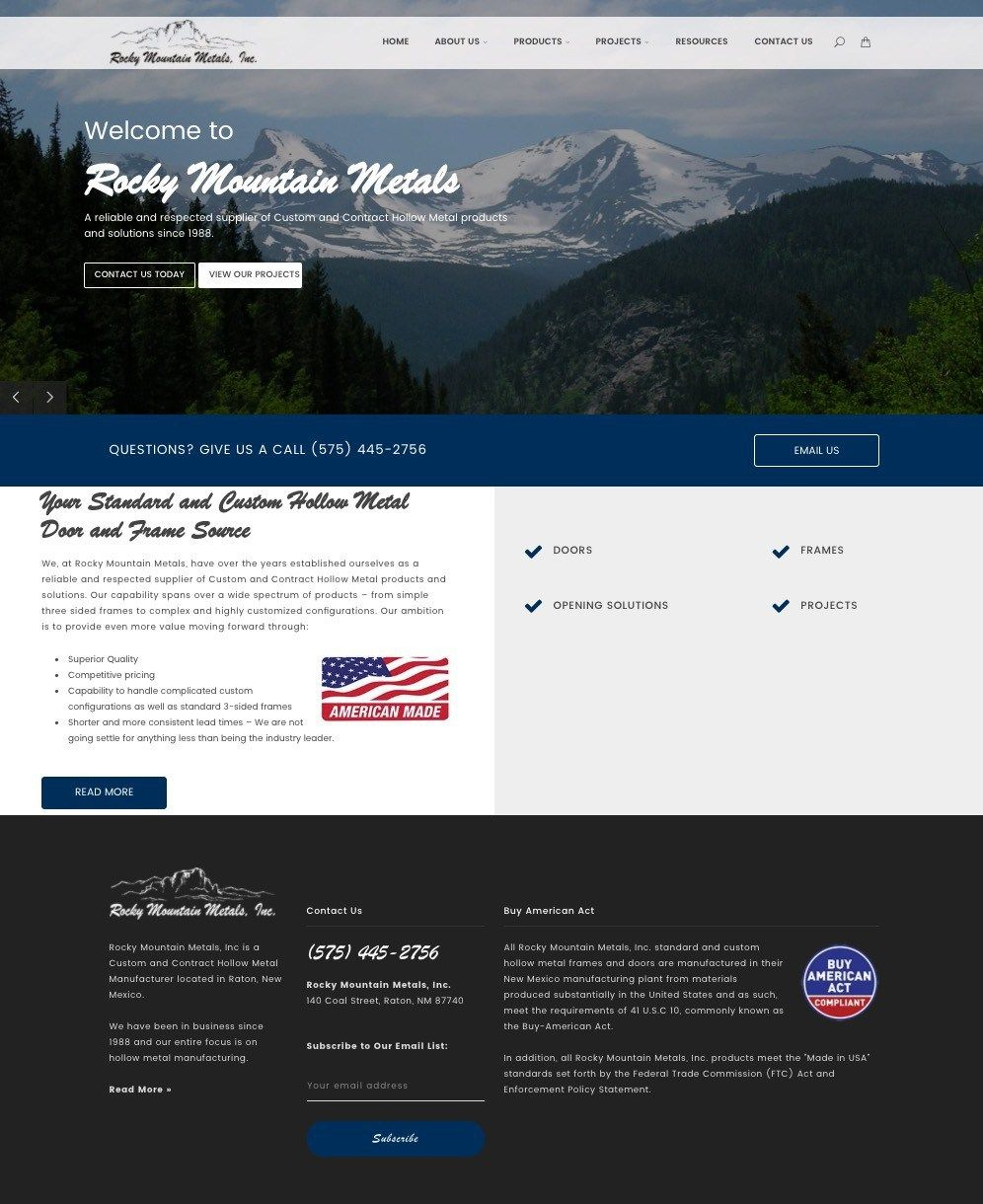 Rocky Mountain Metals Colorado Website Design Wordpress Website Design Colorado Springs Website Design