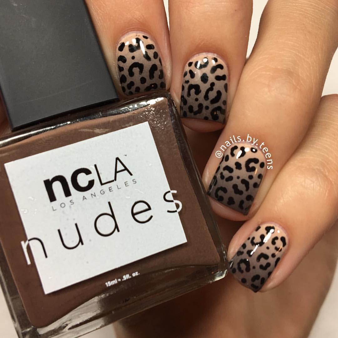 """Kylie en Instagram: """"Roar🐯 Gradiente desnudo + estampado de leopardo. Tutorial más tarde Productos utilizados: @shopncla 'Volume I' 'Volume IV' 'Volume VI' @bundlemonster 'cutícula … """"  – Peinados facile"""
