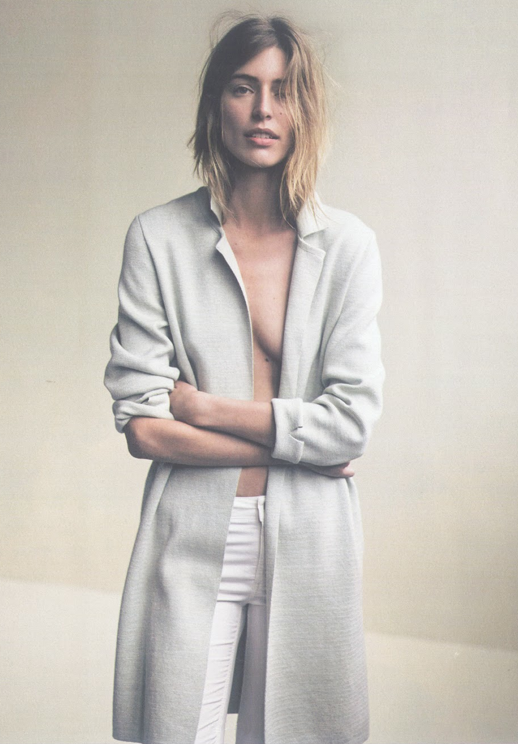 LE FASHION BLOG EDITORIAL IO DONNA MAGAZINE OUT ON THE WEEKEND GREY GRAY  DUSTER JACKET LONG
