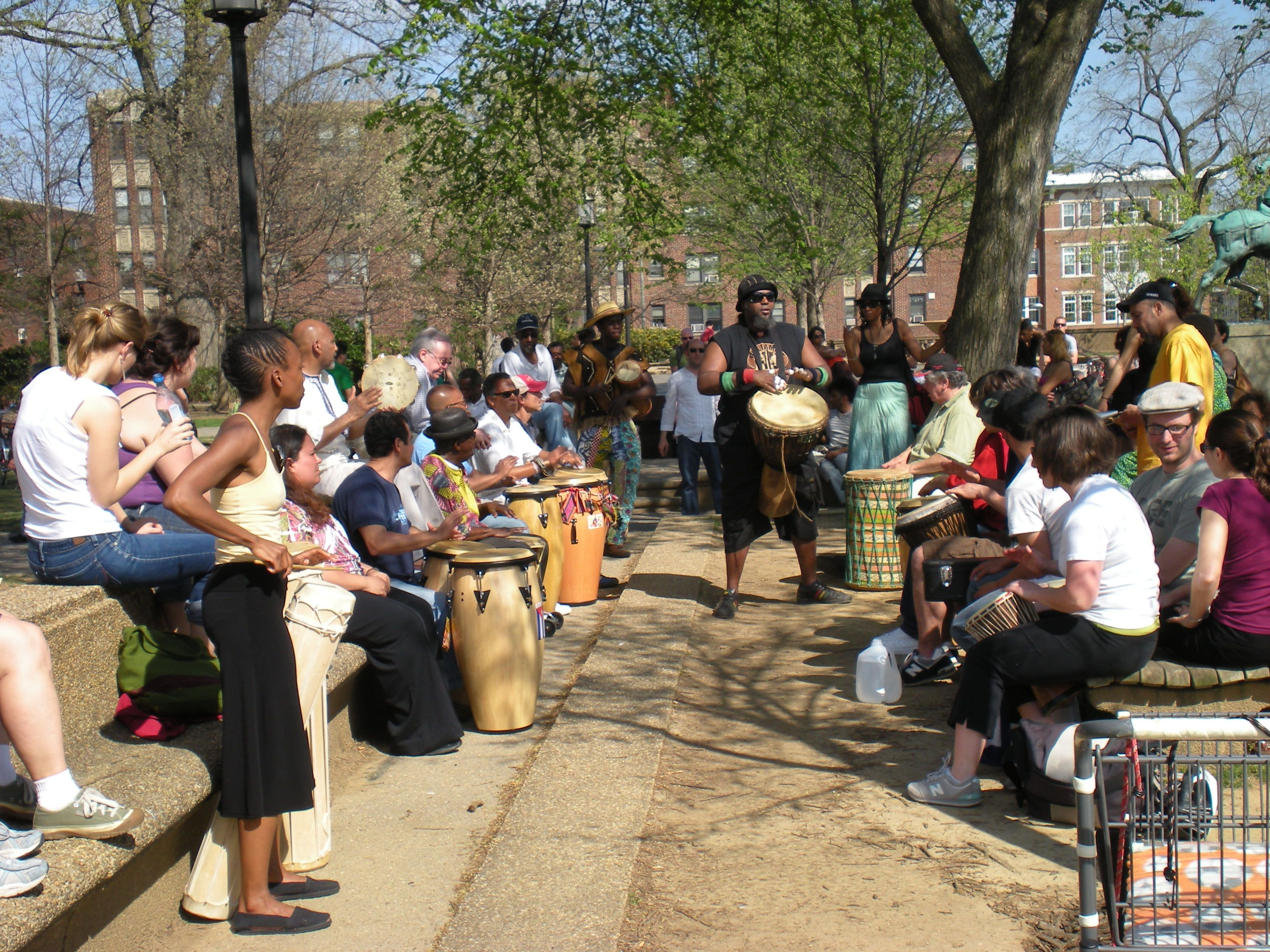 Similar To The Jazz In The Garden There Is This Historic Drum Circle Community In The