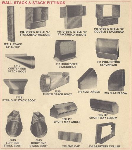Duct work fittings supply products ductwork