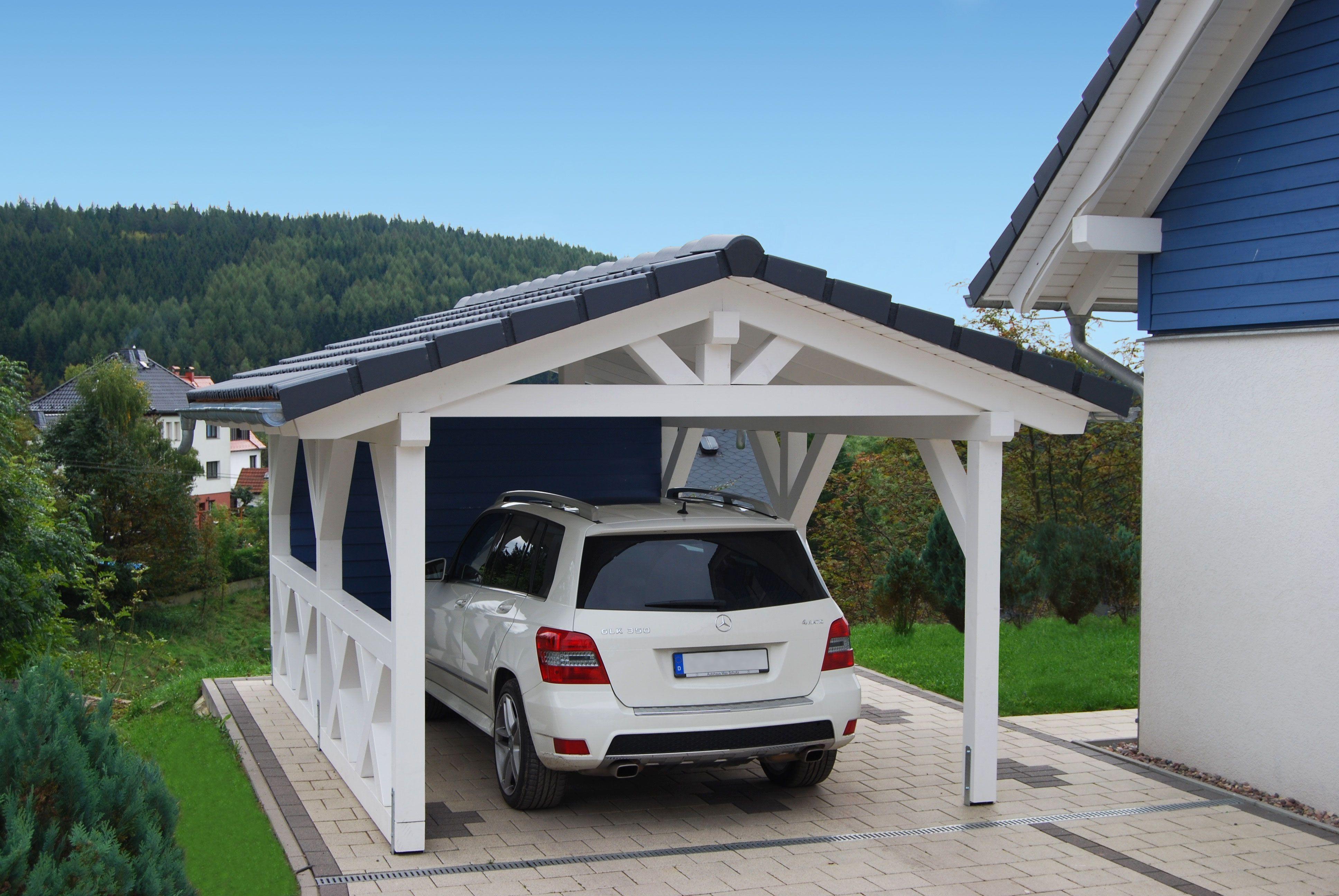 Spitzdach Carport Solarterrassen & Carportwerk GmbH