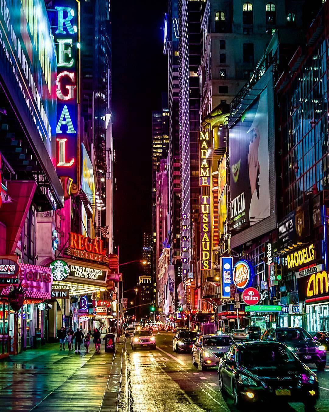 Times Square New York Pictures Night City City Photography
