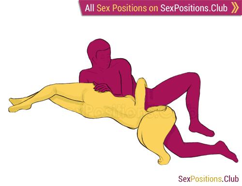 Nude women having sex in sideways position