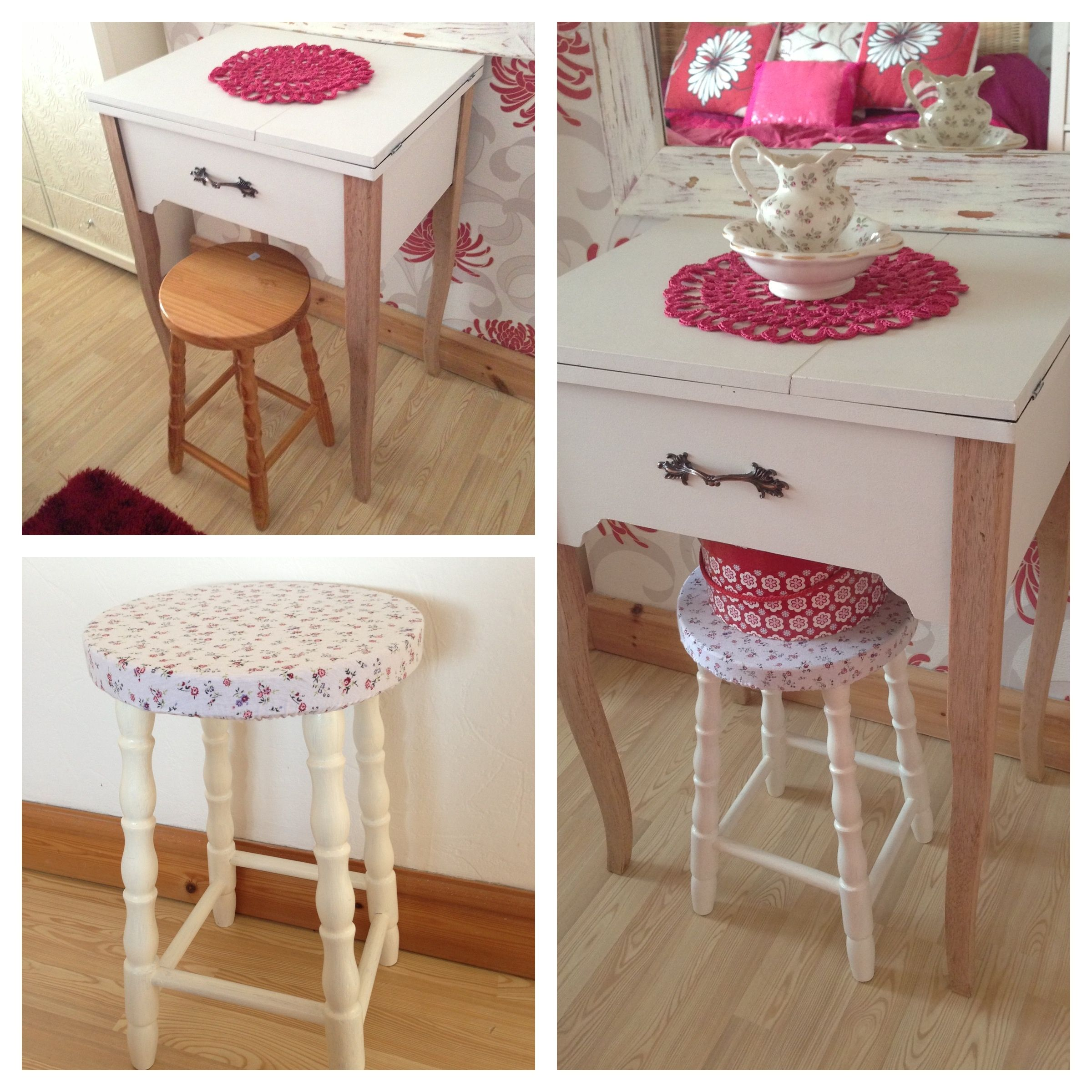 I Needed A Little Stool To Match My Bedroom Furniture