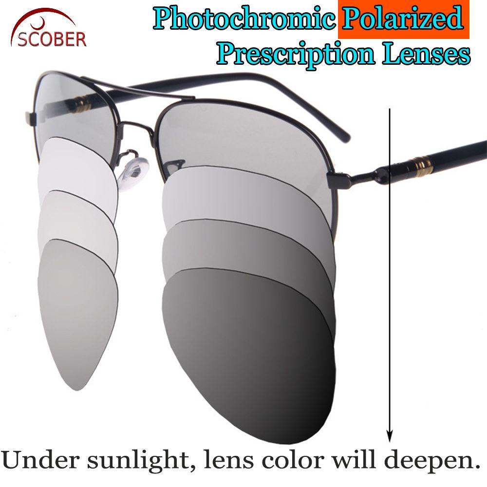 e12e7f19536 Photochromic GRAY Polarized Prescription sunglasses Custom Made Myopia Minus  Prescription Lenses -1 -1.25 -1.5 -1.75 -2 -2.25 -2.5 -2.75 -3 -3.25 -3.5  -3.75 ...