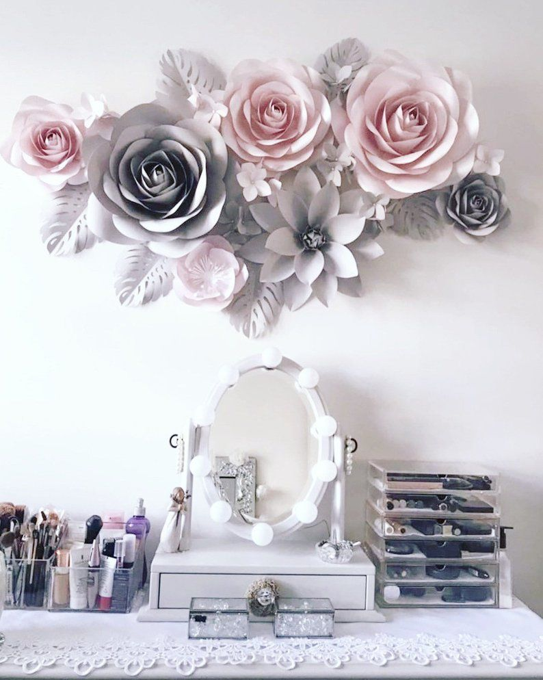 Paper Flowers Wall Decoration Paper Flowers Decor Paper Flowers Backdrop Floral Decor Paper Flowers Set Nursery Paper Flower Decor Paper Flower Wall Paper Flower Wall Decor Paper Flower Backdrop
