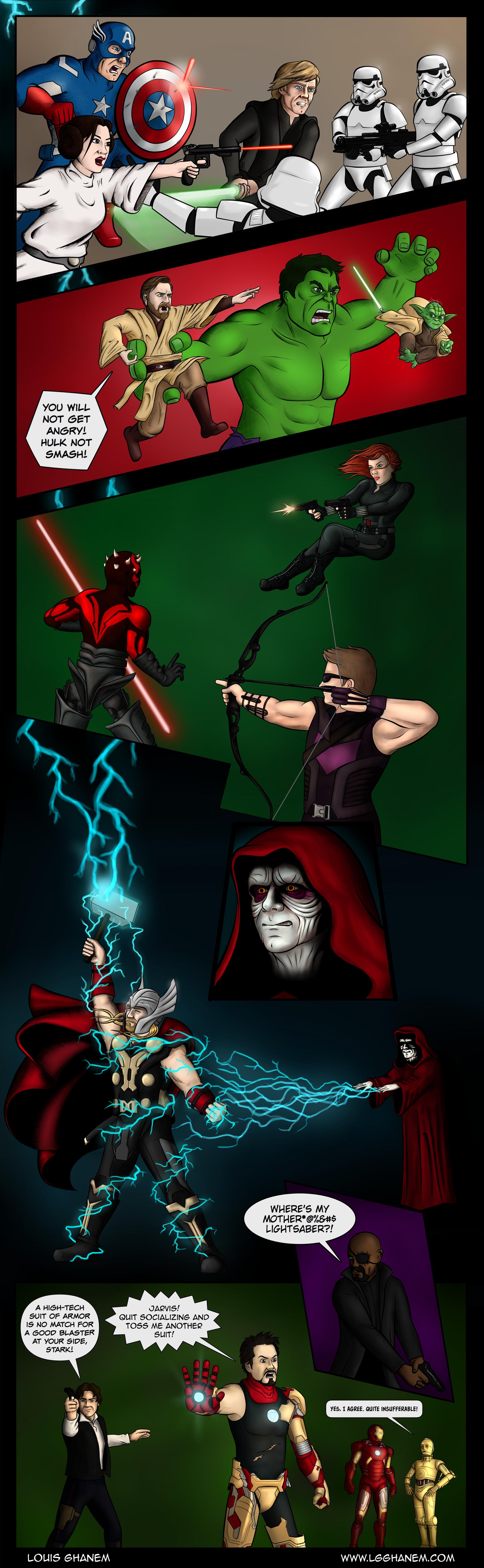 Marvel Vs Star Wars Avengers Edition Scrawl Space Vingadores Marvel Herois