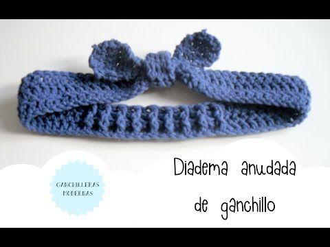 Diadema Anudada De Ganchillo Para Nina Y Mujer Tutorial Youtube - Diadema-ganchillo