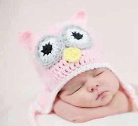 Pink Owl Newborn Crochet Hat Photo Prop by sweetsfcwife97 on Etsy, $16.99