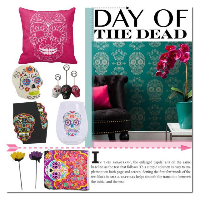 """Day of The Dead Home Decor"" by gabbyramosbr on Polyvore featuring interior, interiors, interior design, home, home decor, interior decorating, Dayofthedead, contestentry, polyvoreeditorial and polyvorecontest"