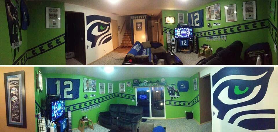 Seahawks Cave Man Cave Home Bar Bars For Home Man Cave