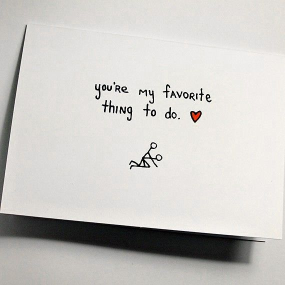 You're My Favorite Thing To Do  Greeting Card by JulieAnnArt, $4.00